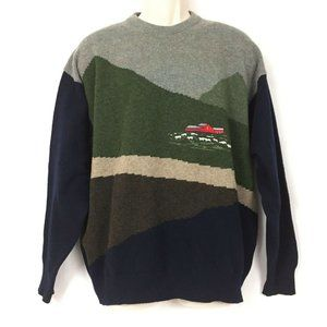 Vintage Woolly Jumpers Merino Wool Sweater L Men's